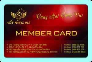 Thẻ thành viên Karaoke Nốt Nhạc Vui